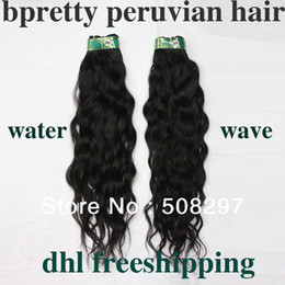 Wholesale curly virgin peruvian hair water wave or mixed length queen hair DHL free shippi