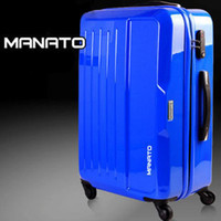 Wholesale Pull rod box suitcase suitcase suitcase boarding box ABS PC blue