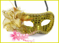 Wholesale Hot sale Sexy Hallowmas Venetian mask masquerade masks with flower mask Dance party mask