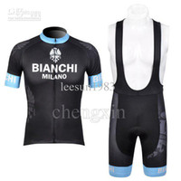 Wholesale 2012 BIANCHI BLACK CYCLING WEAR SHORT SLEEVE CYCLING JERSEY BIB SHORT SET SIZE XS XL