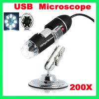 Wholesale 2MP X USB Digital Microscope Endoscope Magnifier LED Camera Cam PC Computer
