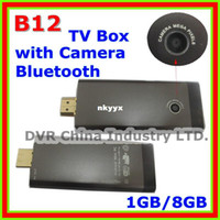Wholesale In Stock Newest Mini PC B12 With MP Camera Dual Core Ghz GB GB Android TV Box Bluet