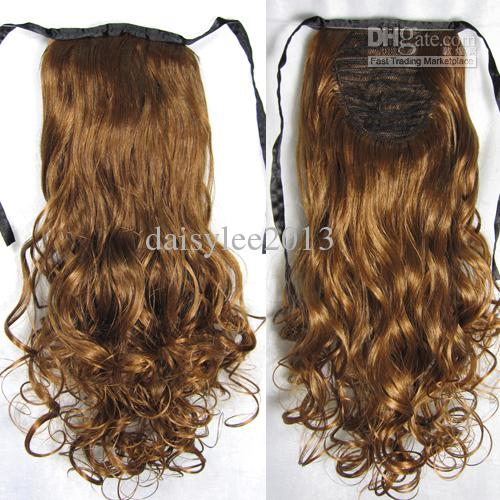 2013 New Ribbon Ponytail Hair Extensions Curly Hairpieces 50cm*8cm #4 ...