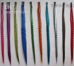 Wholesale 120pcs synthetic rooster grizzly feather hair extension one needle piler silicone rings4