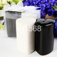 Wholesale Fast shipping heart Ceramic spice pot wedding gift come with ribbon tag