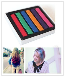 Wholesale 6 Colors Hair Chalk Temporary Pastel Dye Soft DIY salon Painting set Non toxic