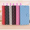 POLKA DOT MOBILE SMART PHONE Z10 FLIP STAND CASE LEATHER FOR BLACKBERRY Z10 cover DHL Ship