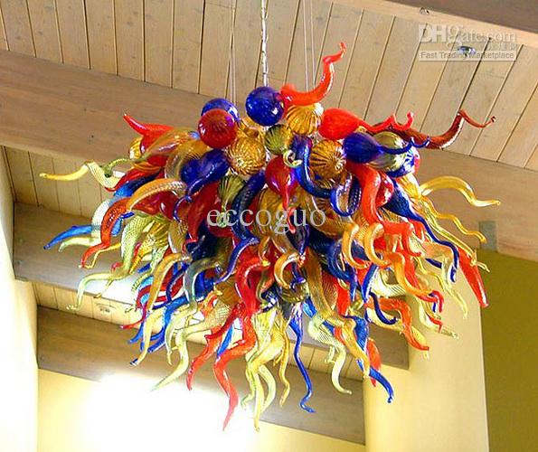 100 hand blown artistic lamp dale chihuly murano borosilicate glass ce ul led handmade ceiling light fixture artistic lighting fixtures