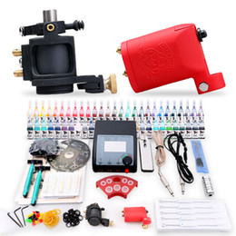 Wholesale Rotary Tattoo Machine kit Machine colors Power Set arrive within days Free Razors D100