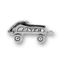 Zinc Alloy antique silver China (Mainland) free ship 100pcs a lot alloy antique silver flyer wagon charm pendants(184543)