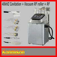 Wholesale Latest cavitation RF machine for sale with RF KHZ Cavitation Vacuum RF Roller