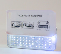Wholesale 2 GHz slim Slide Wireless Bluetooth Mini Keyboard Hard Case with Backlight for iPhone