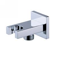Wholesale Square brass shower holder function shower hook