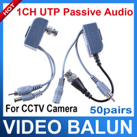 Wholesale Video Audio Power Balun BNC CCTV UTP Cat5 Transceiver Cable pairs
