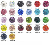 Wholesale 100pcs mm mm mm mm mm DIY Clay Crystal Beads Pave Rhinestone Disco Ball Shamballa bead