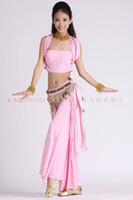 Belly Dancing Sequin Velour 2013 hot sell belly dance training suit(hanging neck strapless tops with tribal pants+colorful Angle