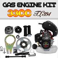 33CC bicycle engine - 33CC Gas Motorized Stroke Bicycle Engine Kit stroke cc moped bicycle engine kit
