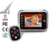 Wholesale 3 inch TFT LCD screen video Recording Doorbell Viewer Door Peephole Security Camera GB support