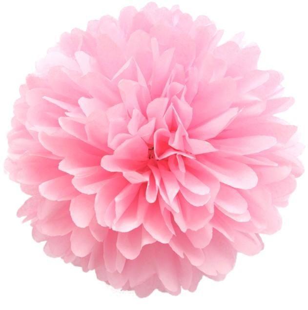 2017 light pink 1435cm tissue paper pom poms colorful