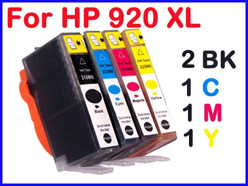 1black ink cartridge for hp 920xl hp920 hp officejet 6500 officejet 6000 officejet 7000 online. Black Bedroom Furniture Sets. Home Design Ideas