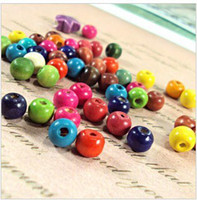 Wholesale diy MM Mixed Color Round Shape Wooden Beads Fashion Wooden Beads pj1