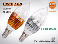 Wholesale 5PCS High power W Led candle Bulb E14 E27 V LED chandelier led light lamp bulbs