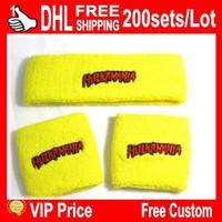 achat en gros de bracelets jaunes-VIP CHAUDE DE NICE !! Jaune bracelet bracelets anti-transpiration bandeaux et DHL livraison gratuite