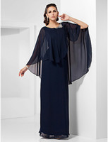 Wholesale 2013 Dress New Fashion Plus Size A Line Jewel Floor Length Chiffon Mother Of The Bride Dresses