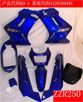 Wholesale For KAWASAKI Ninja ZZR250 ZZR250 Aftermarket ABS blue Fairing kit fo