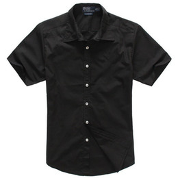 Wholesale Summer classic men s short sleeved shirt POLO casual shirt Black colour