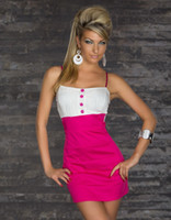 Wholesale 2013 New Andrew Sexy Lingerie Stretch Lycra Gothic Club wear Stage Wear Halter Dress White and Pink