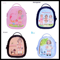 Wholesale Paper Doll Mate Lovely Doll Cosmetic Backpack PU Make Up Pouch Girls Handbag Oblique cross Bag