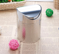 Wholesale High grade Stainless steel desktop garbage bucket mini fashion stainless steel household