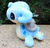 Anime & Comics Blue The Valentines Day Wholesale - retail Lapras toy Pikachu Soft Plush pocket Doll stuffed animal children gift 15CM 6''La