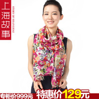 Wholesale 2013 spring luxury cashmere velvet ultra soft print scarf cape thermal