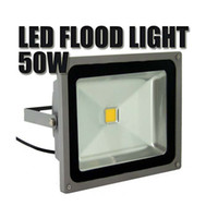 Wholesale new W LED Flood lights High Power Waterproof Outdoor Square Floodlight cool whitev85 V degree ship by dhl fedex