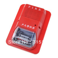 Cheap Free Shipping System Sensor Fire Alarm Horn Strobe Wall 24V Security Fire Alarm Red