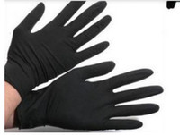 Wholesale NEW Black Tattoo Nitrile Gloves tattoo Supply Disposable Use Tattoo Gloves Waterproof