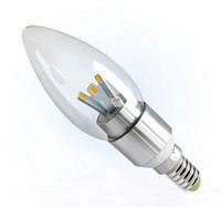Wholesale Hot sale Led Candle Lamp E14 E12 W V V Led lamp bulbs Led Candle light Low price