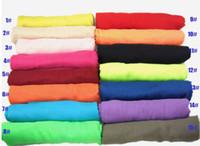 Tamaño grande llana sólida de la gasa de la manera de la bufanda, mantón del abrigo de la Mujer Bandelet, Silenciador, Pañuelo de cuello bufandas # 2895