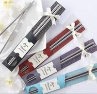 best chopsticks - Good price Stainless Steel Chopsticks Best Gifts for wedding business birthday Home Tableware