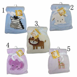 Wholesale Cute styles Embroidery Coral Cashmere Pine Needles carpet baby blanket cartoon blankets
