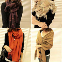 Yarn Dyed Rectangular Dobby The cashmere 2013 Korean winter Women's wool scarf shawl dual-use Long Scarf