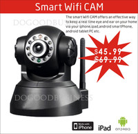 Wholesale Wireless IP Camera Smart Wifi CAM With IR Night Vision and Remote Pan Tilt