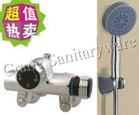 Wholesale Luxury Brass Thermostatic Shower Faucet Mixer Tap Wall Mounted Copper bathtub thermostatic mixing