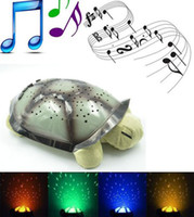 Wholesale Twilight twinkle star constellation turtle night light baby kids lead projection lamp LED music lamp