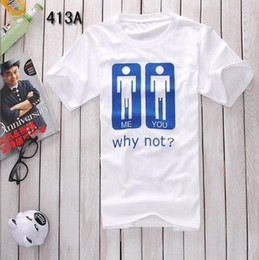 Free shipping funny t-shirt fashion men's T Shirt why not print New fashion funny Tshirt for men women cool t-shirt 100% cotton 2 color