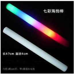 Low price LED Colorful rods led foam stick flashing foam stick, light cheering glow foam stick concert festival carnival supplies 50pcs lot