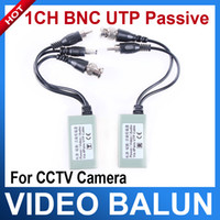 Wholesale 1 Pair RCA Male Female Port CCTV Camera BNC Video Balun UTP PVD Transceiver