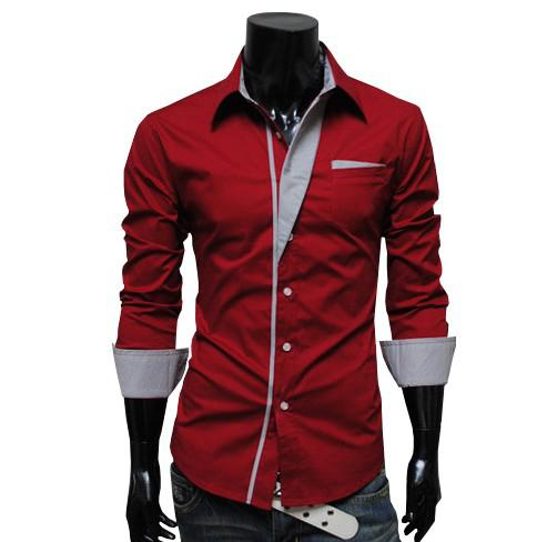 New Mens T Shirt Men's Long Sleeve T Shirt Slim Fit ,Polo Shirt ...
